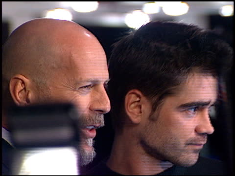 colin farrell at the 'hart's war' premiere at mann in westwood, california on february 15, 2002. - colin farrell stock videos & royalty-free footage