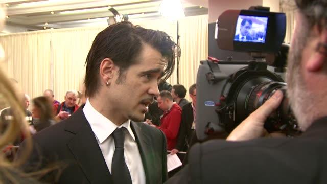 colin farrell at the irish film & television awards at dublin . - colin farrell stock videos & royalty-free footage