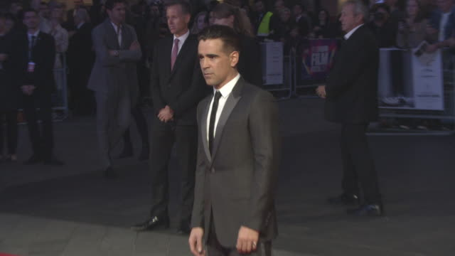 colin farrell at 'the killing of a sacred deer' uk premiere - 61st bfi london film festival at odeon leicester square on october 12, 2017 in london,... - colin farrell stock videos & royalty-free footage