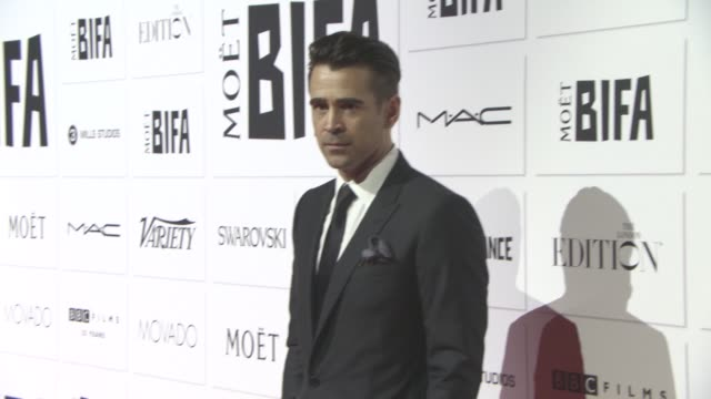 colin farrell at the moet british independent film awards at the old billingsgate on december 6, 2015 in london, england. - colin farrell stock videos & royalty-free footage