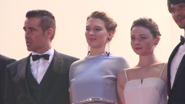 BROLL Colin Farrell Jessica Barden Lea Seydoux at The Lobster' Red Carpet at Palais des Festivals on May 15 2015 in Cannes France