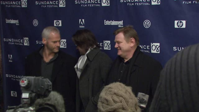colin farrell, martin mcdonough, and brenden gleeson at the 'in bruges' premiere and party at the eccles theatre in park city, utah on january 17,... - colin farrell stock videos & royalty-free footage