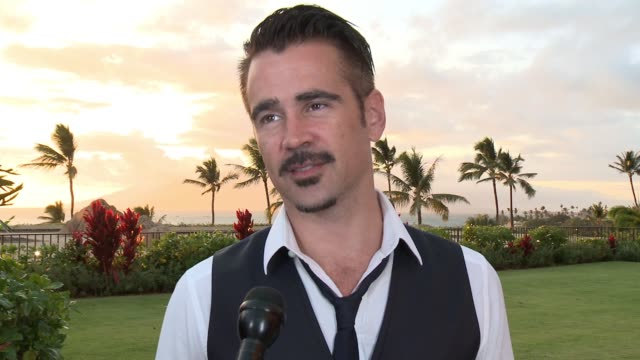 colin farrell on being at the maui film festival, what he's done while he's been in maui and his upcoming projects at the 2015 maui film festival at... - colin farrell stock videos & royalty-free footage