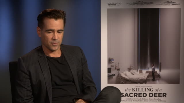 colin farrell on his career at the killing of a sacred deer' interviews - 61st bfi london film festival at soho hotel on october 14, 2017 in london,... - colin farrell stock videos & royalty-free footage