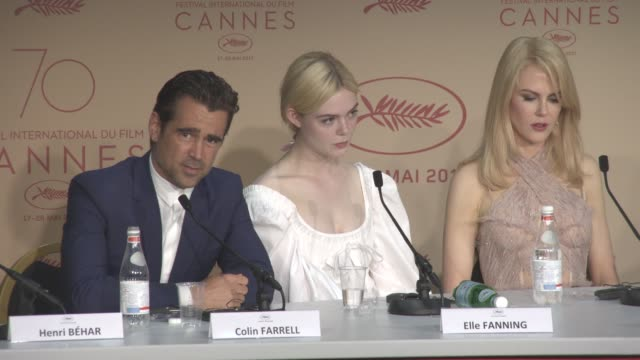 colin farrell on not meeting clint eastward, seeing the original film, never doing a remake again, maintaining his irish accent int he film at 'the... - colin farrell stock videos & royalty-free footage