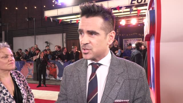 colin farrell on the movie, tim burton and childhood on march 21, 2019 in london, united kingdom. - colin farrell stock videos & royalty-free footage