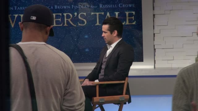 colin farrell on the set of the good morning america show - celebrity sightings in new york on in new york city. - colin farrell stock videos & royalty-free footage