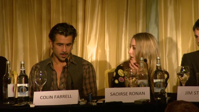 colin farrell on what his character is like at the the way back press conference at london england. - colin farrell stock videos & royalty-free footage