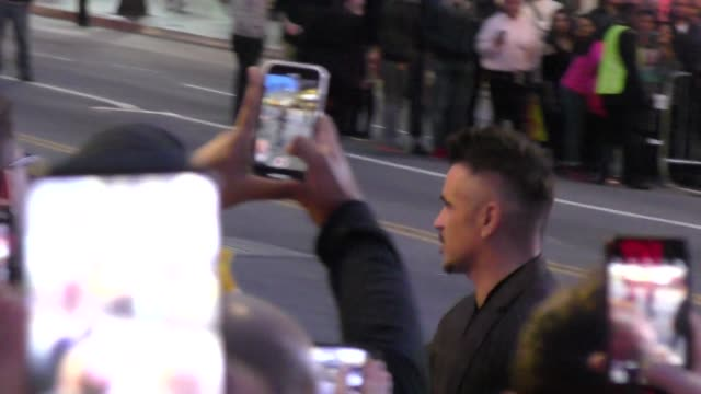 colin farrell outside the dumbo premiere at dolby theatre in hollywood in celebrity sightings in los angeles, - colin farrell stock videos & royalty-free footage