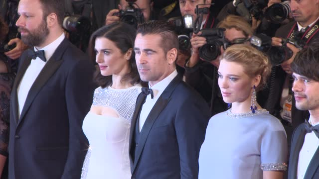 BROLL Colin Farrell Rachel Weisz Jessica Barden Ariane Labed John C Reilly Lea Seydoux Ben Whishaw Yorgos Lanthimos at 'The Lobster' Red Carpet at...