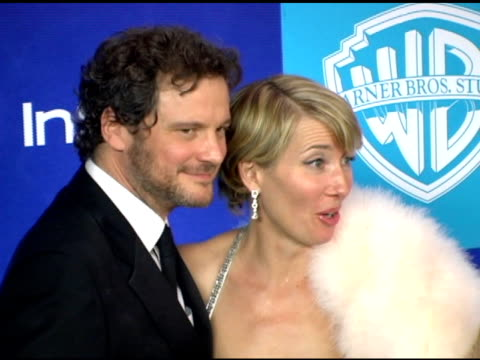 Colin Firth and Emma Thompson at the InStyle/Warner Brothers Golden Globes Party at the Beverly Hilton in Beverly Hills California on January 16 2006
