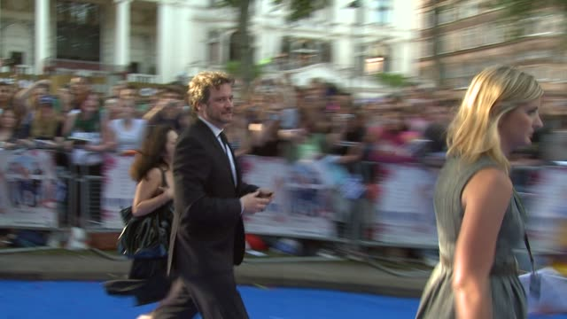Colin Firth and his wife Livia Giuggioli at the Mamma Mia Premiere at London