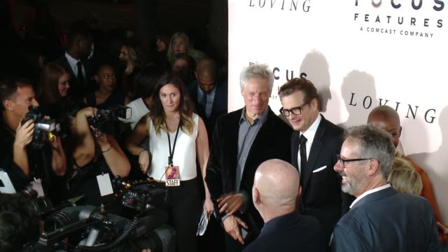 "vídeos de stock, filmes e b-roll de colin firth at ""loving"" los angeles premiere presented by focus features in los angeles ca - colin firth"