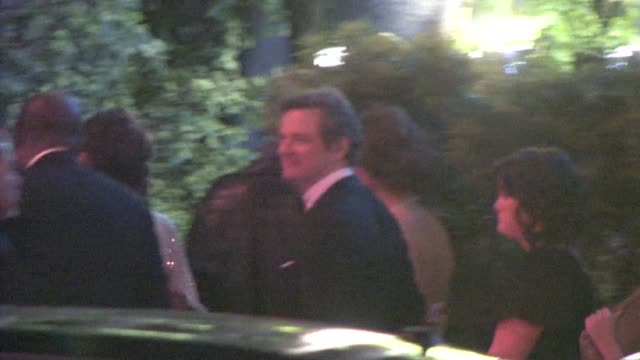 vidéos et rushes de colin firth at the 2011 vanity fair oscar party at sunset tower in west hollywood at the celebrity sightings in los angeles at los angeles ca - vanity fair oscar party