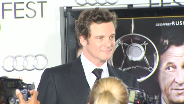 vídeos de stock, filmes e b-roll de colin firth at the afi fest 2010 screening of 'the king's speech' at hollywood ca - colin firth
