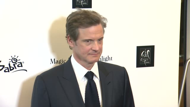 vídeos de stock, filmes e b-roll de colin firth at the magic in the moonlight los angeles premiere at pickford center for motion study on july 21 2014 in hollywood california - colin firth