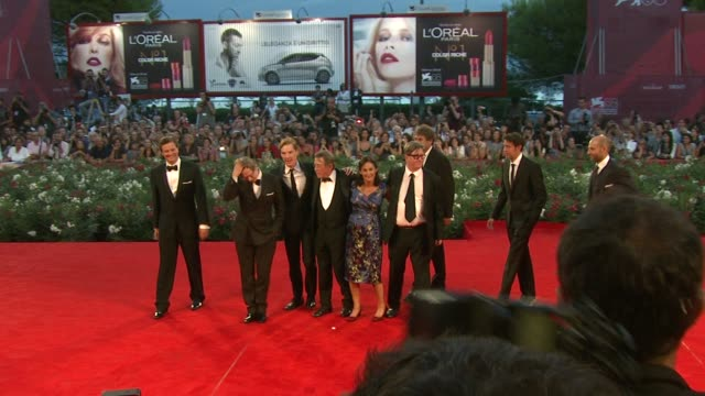 colin firth, gary oldman, benedict cumberbatch, john hurt, robyn slovo, mark strong at the tinker, tailor, soldier, spy premiere: venice film... - gary oldman stock videos & royalty-free footage