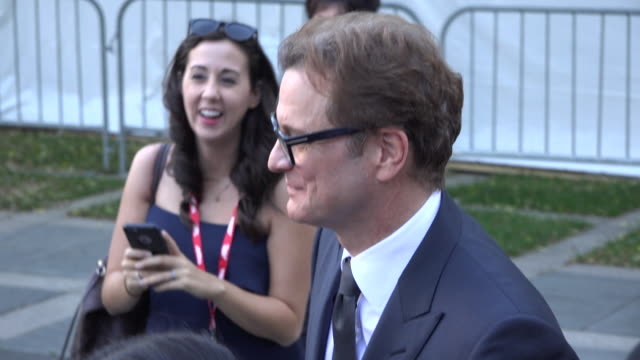 Colin Firth in the TIFF Red Carpet He is one of the producers of the film Loving that premiers at TIFF He greets and allow selfie taking from fans...