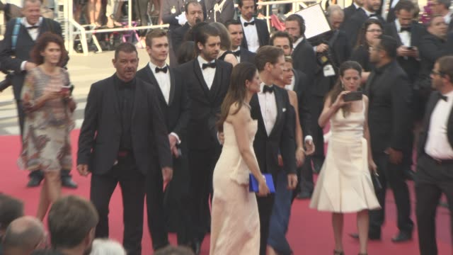 colin firth livia firth at 'loving' red carpet at grand theatre lumiere on may 16 2016 in cannes france - grand theatre lumiere stock videos & royalty-free footage