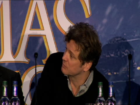 Colin Firth on his best and worse' Chritsmas at the A Christmas Carol Press Conference at London England