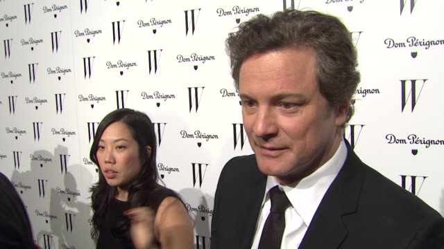 colin firth on his critic's choice win. at the w magazine celebrates the best performances issue and the golden globe awards at los angeles ca. - critic stock videos & royalty-free footage