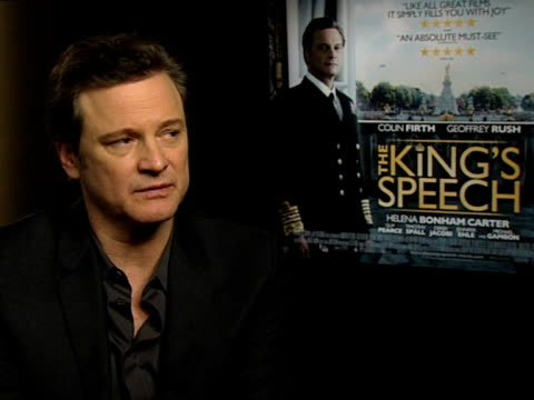 Colin Firth on how the role made him more aware of the challenges living with a stammer at the INTERVIEW The King's Speech at London England