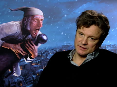 vídeos de stock, filmes e b-roll de colin firth on how this is a new type of performance on how it's an authentic method of acting on how people will have to get used to this type of... - colin firth
