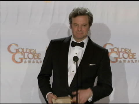 Colin Firth on midlife crises at the 68th Annual Golden Globe Awards Press Room at Beverly Hills CA