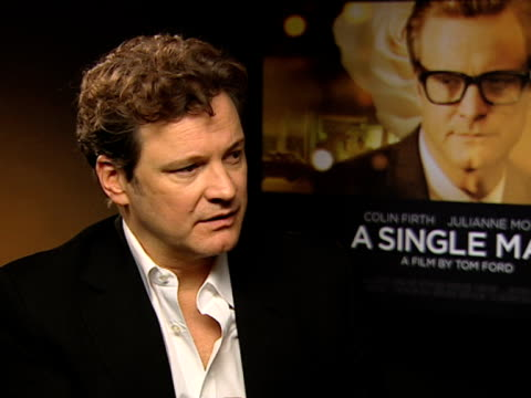 colin firth on not knowing how things happened with this performance on how there was no time to realise any point in time on arriving on a friday... - matthew goode stock videos & royalty-free footage