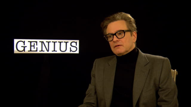 vídeos de stock, filmes e b-roll de interview colin firth on the importance of literature and films at 'genius' interviews 66th berlin international film festival on february 16 2016 in... - colin firth