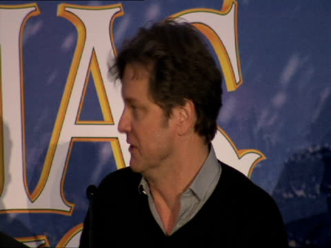 Colin Firth on the process of making a digital animation at the A Christmas Carol Press Conference at London England