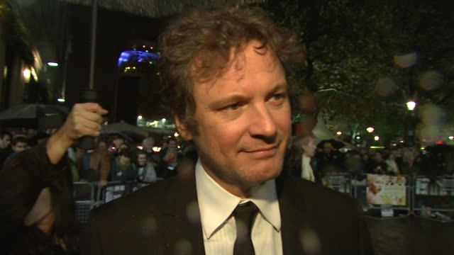 Colin Firth on the various nationalities on set and the tension this creates in the script at the London Film Festival Easy Virtue premiere at London