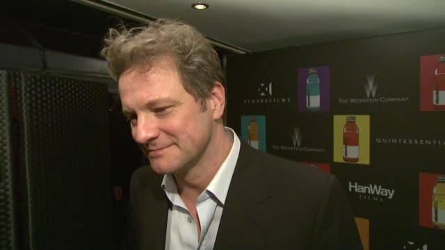 Colin Firth on working on the film Christmas Carol at the Cannes Film Festival 2009 Nowhere Boy Party at Cannes