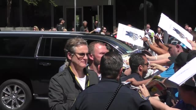 Colin Firth outside Conan O'Brien's Comic Con Special at Spreckels Theatre in San Diego in Celebrity Sightings in San Diego