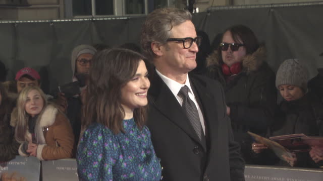 vídeos de stock, filmes e b-roll de colin firth rachel weisz at 'the mercy' world premiere at the curzon mayfair on february 06 2018 in london england - colin firth