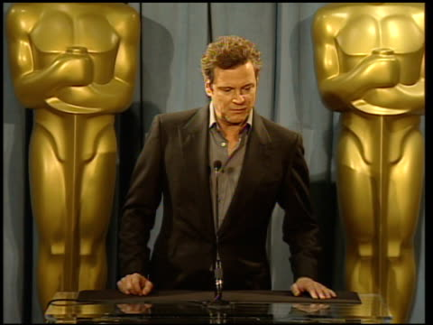 Colin Firth reactions to nominations and his role in the movie at the 82nd Academy Awards Nominees Luncheon at Beverly Hills CA