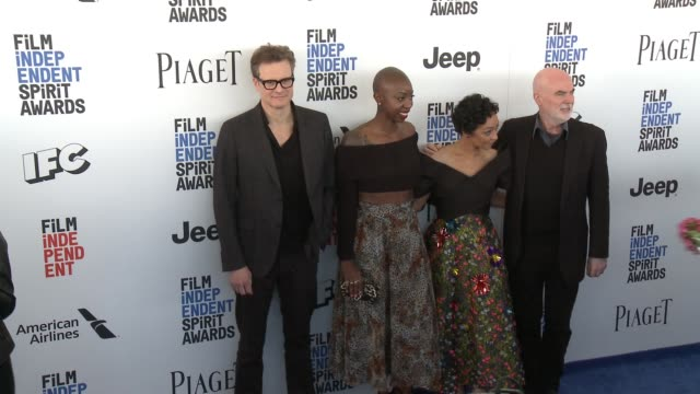 Colin Firth Ruth Negga Oge Egbuonu and Ged Doherty at the 2017 Film Independent Spirit Awards Arrivals on February 25 2017 in Santa Monica California