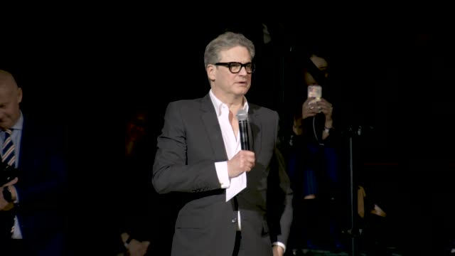 vídeos de stock, filmes e b-roll de colin firth speaks at international woolmark prize 2019 at linley hall on february 16 2019 in london england - colin firth