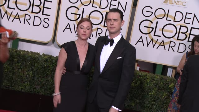 vídeos y material grabado en eventos de stock de colin hanks and jamie brewer at the 72nd annual golden globe awards arrivals at the beverly hilton hotel on january 11 2015 in beverly hills... - the beverly hilton hotel
