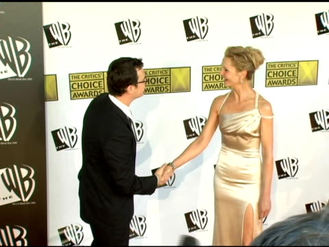 colin hanks and joan allen at the 2006 critics' choice awards arrivals at santa monica civic auditorium in santa monica california on january 9 2006 - joan allen stock videos and b-roll footage