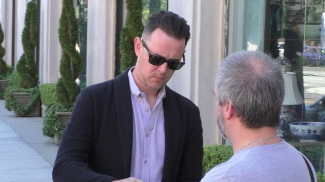colin hanks arriving to the opening night of belleville at pasadena playhouse in pasadena in celebrity sightings in los angeles - pasadena playhouse stock videos & royalty-free footage