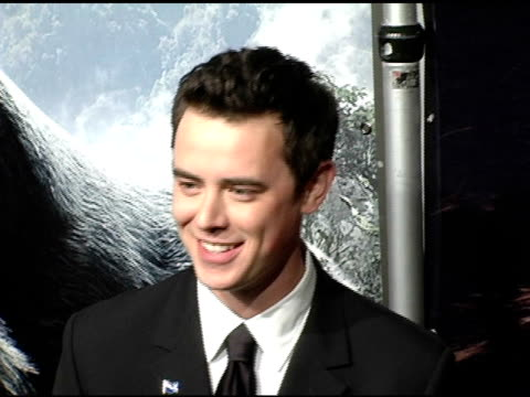Colin Hanks at the 'King Kong' New York Premiere at Loews EWalk and AMC Empire Cinemas in New York New York on December 5 2005