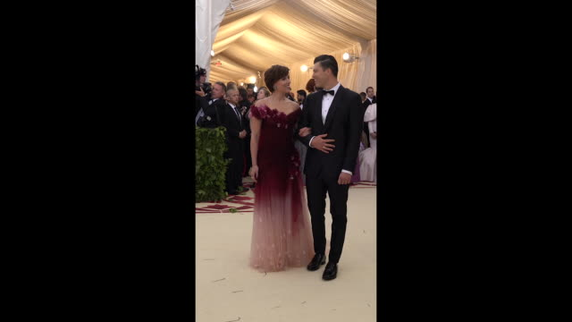 colin jost and scarlett johansson at heavenly bodies fashion the catholic imagination costume institute gala alternative views social at the... - scarlett johansson stock videos and b-roll footage