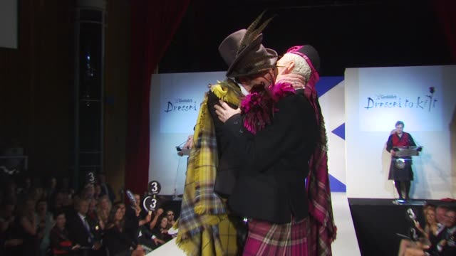 colin mcallister and justin ryan at the 8th annual 'dressed to kilt' charity fashion show at new york ny - dressed to kilt stock videos & royalty-free footage