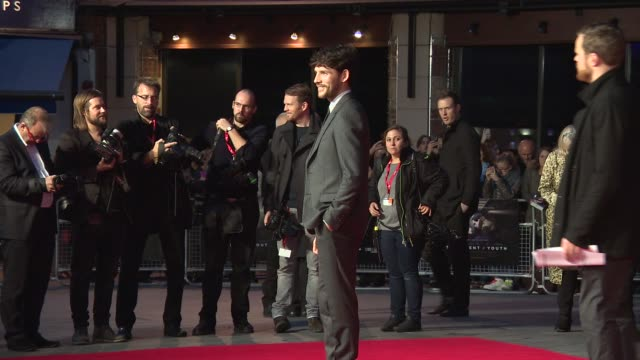 colin morgan at 'testament of youth' centerpiece gala screening at odeon leicester square on october 14 2014 in london england - odeon leicester square stock videos and b-roll footage