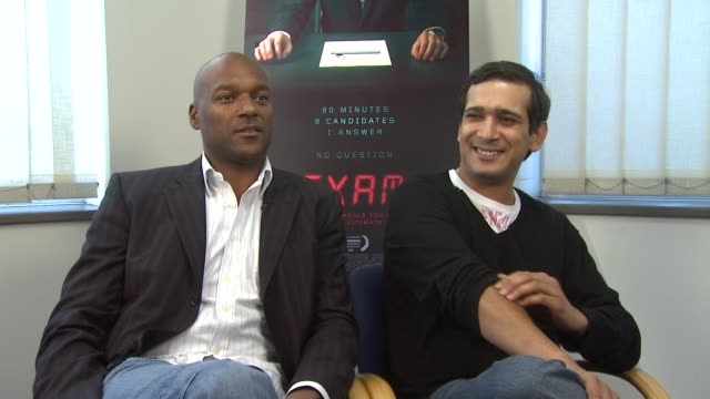 colin salmon and jimi mistry on how the film is a psychological and psychopathic movie on how it's a puzzle movie and the audience must find out what... - psychopathy stock videos and b-roll footage