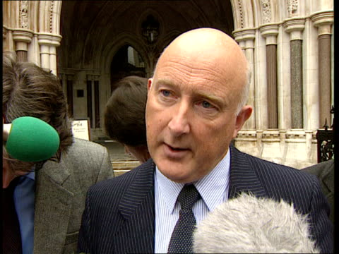 colin wallace sentence quashed england london high court ms colin wallace towards out of court amid press cms colin wallace speaking to press sot... - itv news at ten stock-videos und b-roll-filmmaterial