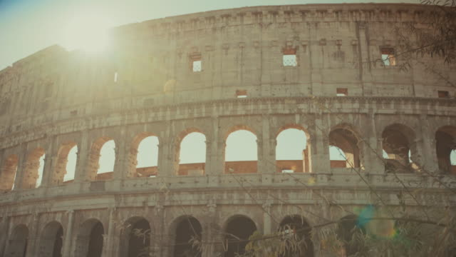 Coliseum of Rome close up and sun shining