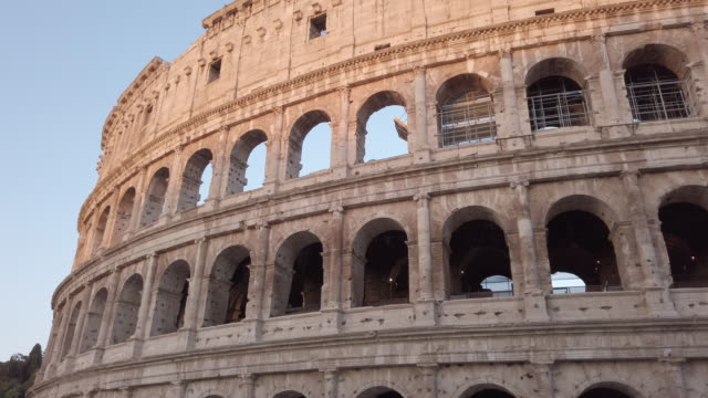 coliseum, rome, italy - clear sky stock videos & royalty-free footage