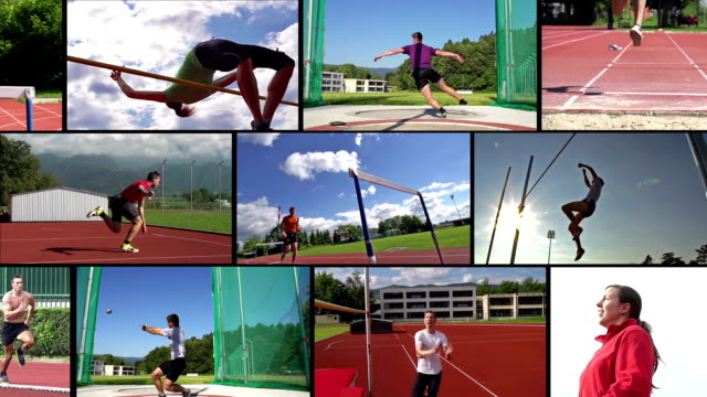 HD MONTAGE:  Collage von attraktive Track @Field Sport und Action